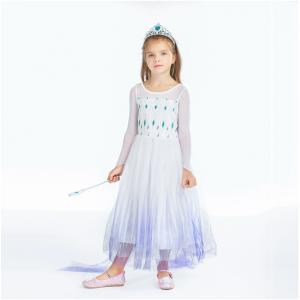 Girls Snow Queen Princess Dress