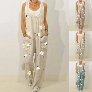 Women's Daisy Flower Print Jumpsuit