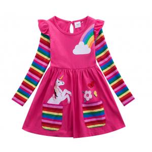 Little Girls' Rainbow Unicorn Dress