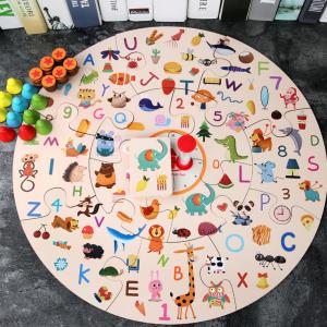 Wooden Parent-child Interactive Puzzle Map