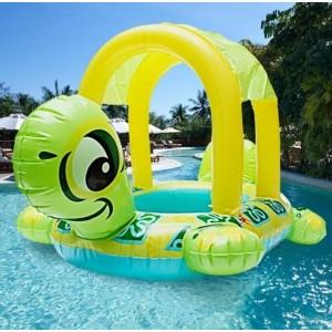 Summer PVC Safe Tortoise Shape Kids Baby Inflatable Pool Float Seat Boat Water Swim Ring