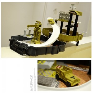 Puzzle assembly track car model