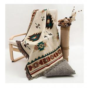 Ethnic style geometric sofa blanket
