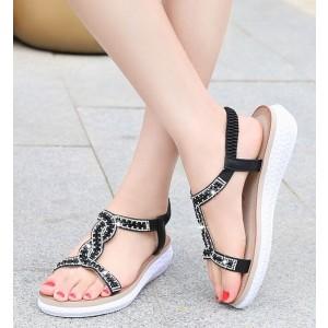 Women's Diamante Slip-On Sandals
