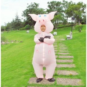 Blow up Jumpsuit Pig Costume toys