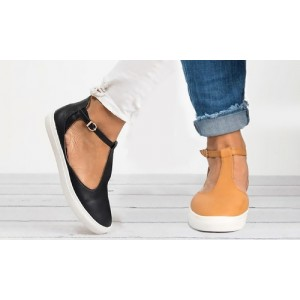 Women's T-Strap Flat Heel Sandals