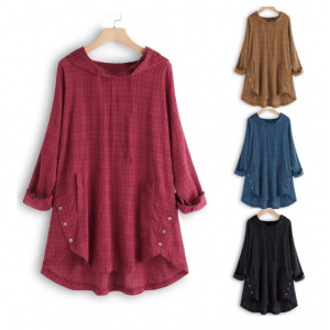 Casual Hooded Baggy Tops
