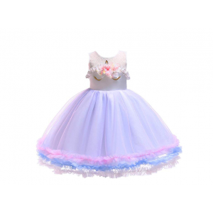 Kids Girls Unicorn Party Costume